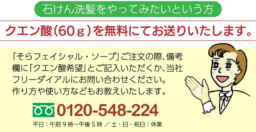 クエン酸(60g)お送りいたします。