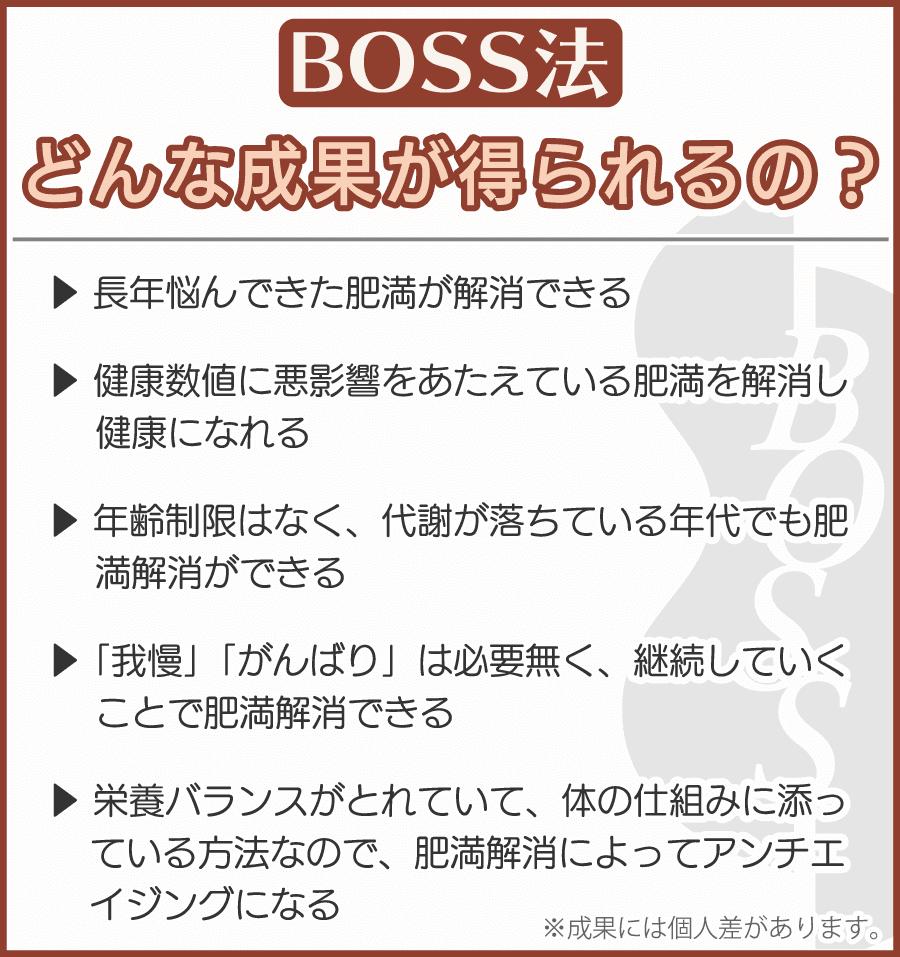 BOSS法:どんな成果が得られるの?