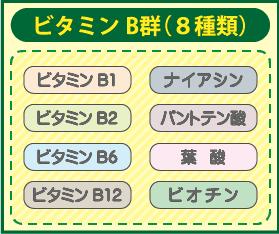 ビタミンB群(8種類)